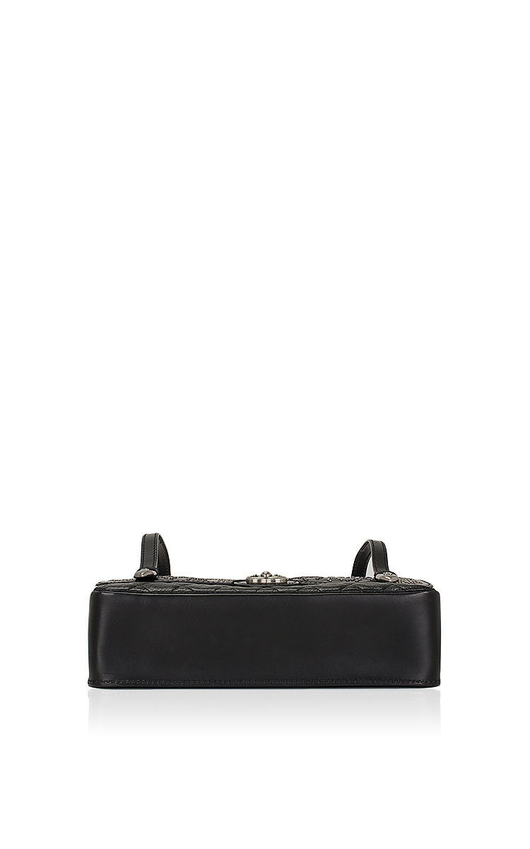 d43dee4ae334dc Chanel Dallas Runway Black Studded Large Messenger Bag   Moda Operandi
