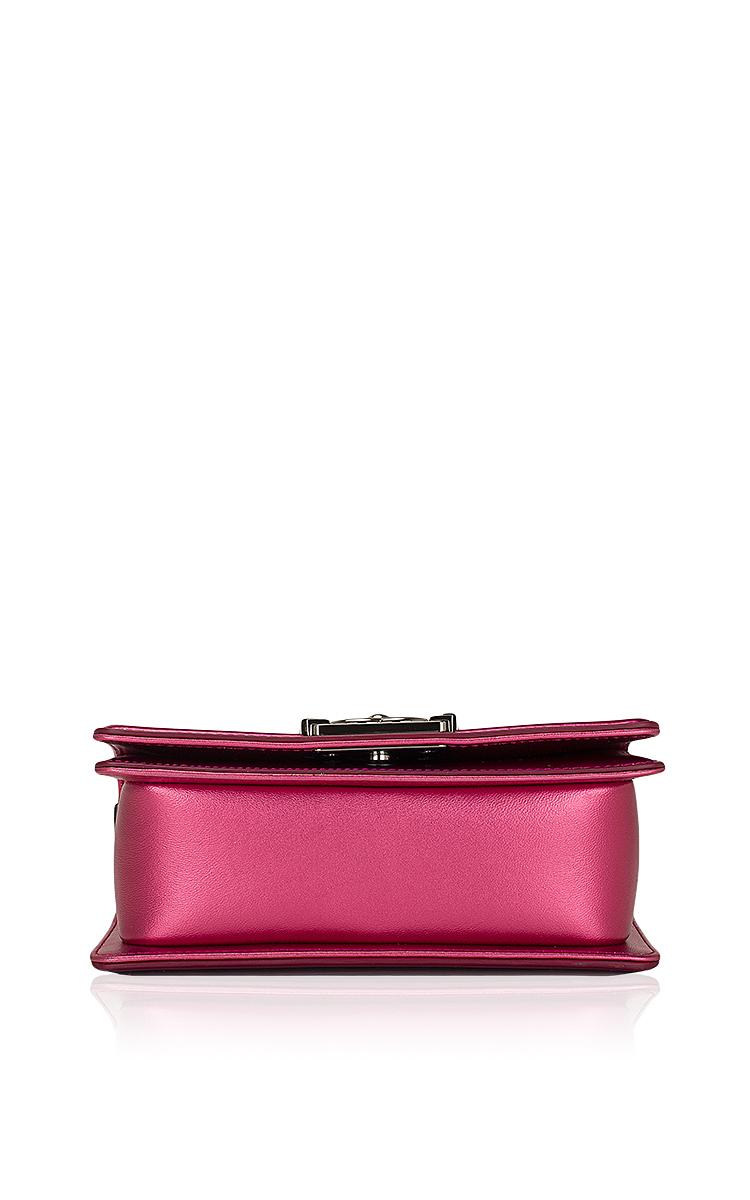43b6d8a0ed7f45 Hermes VintageChanel Fuchsia Pink Metallic Patent Small Boy Bag. CLOSE.  Loading. Loading. Loading. Loading