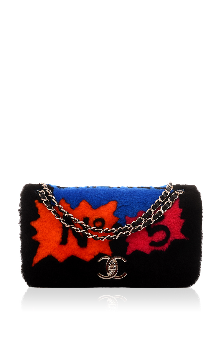 af8119623a57 Chanel Limited Edition Patchwork Shearling Flap Bag by Hermes ...