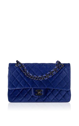 9f1e47a5e1c Chanel Electric Blue Quilted Velvet Large Clic 2 55 Moda Operandi