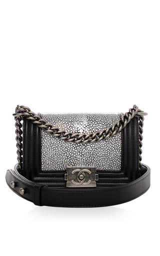 8878c6274d1552 Chanel Metallic Stingray Calf Leather Mini Boy Bag by Hermes Vintage | Moda  Operandi