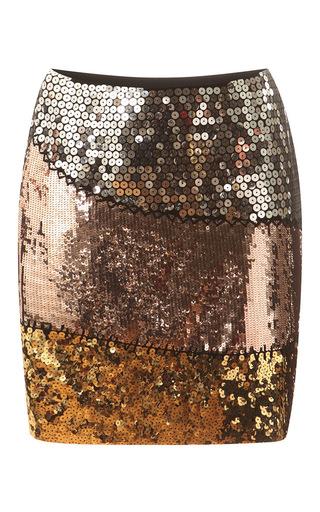 Medium moschino multi colorblock sequin mini skirt