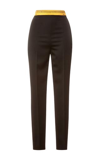 Medium moschino black measuring tape tapered trousers