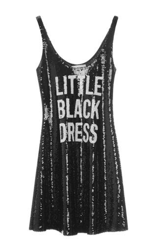 Medium moschino black sequin little black dress