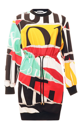 Medium moschino multi print collage sweatshirt dress