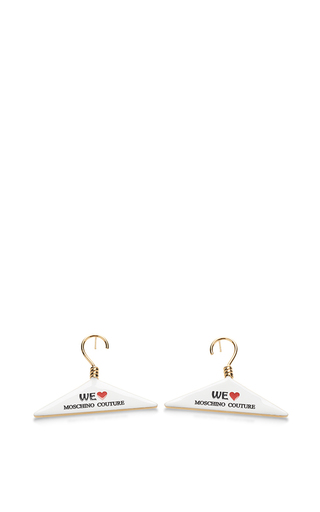 Medium moschino gold hanger earrings