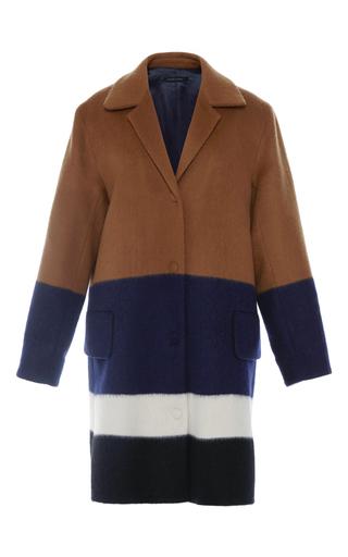 Medium mother of pearl brown montiague mohair wool coat