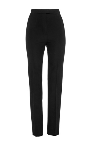 Medium martin grant black black wool high waisted cigarette pants