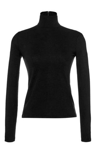 Medium martin grant black black wool classic turtleneck sweater