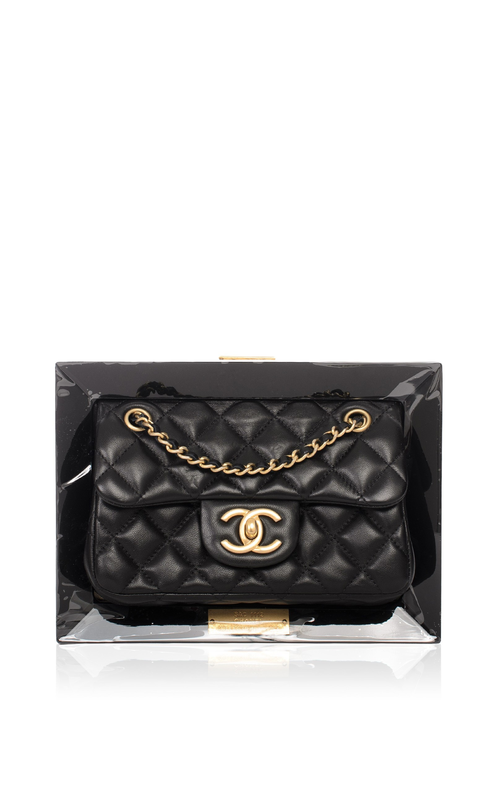 6293244644f92a Hermes VintageChanel Limited Edition Vip Black Frame Bag. CLOSE. Loading