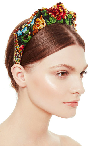 Medium masterpeace brown kokoshnik headpiece