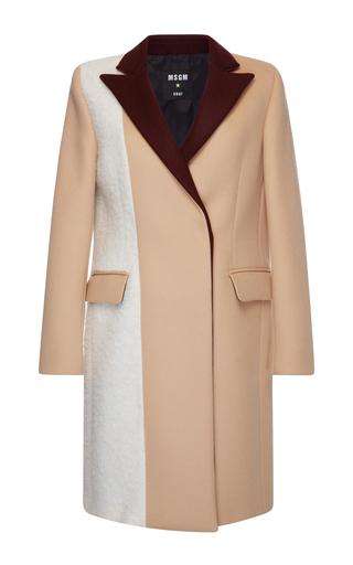 Medium msgm multi boucle patchwork coat