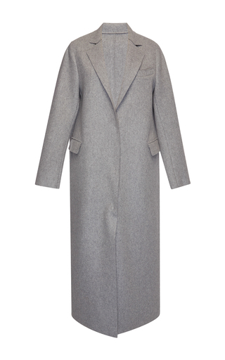 Medium msgm dark grey grey wool felt coat