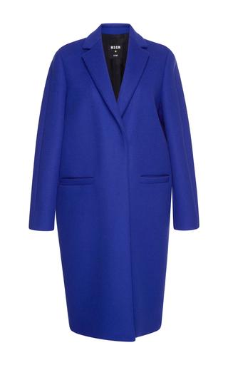 Medium msgm purple concord grape wool felt coat