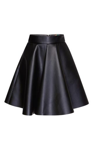 Medium msgm black eco nappa leather skirt