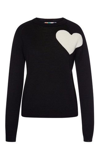 Heart Intarsia Pullover Sweater by MSGM Now Available on Moda Operandi