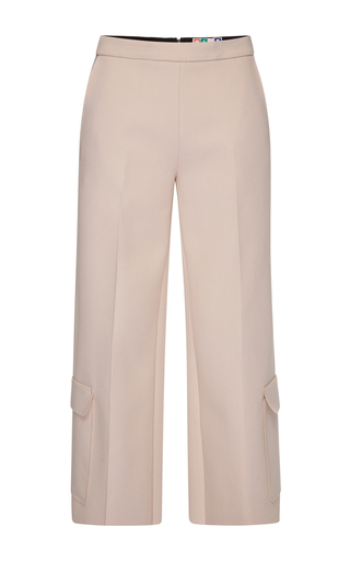 Technical Double Crepe Cargo Crop Pant by MSGM Now Available on Moda Operandi
