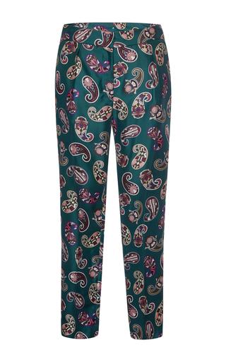 Medium msgm print memphis paisley silk twill pants