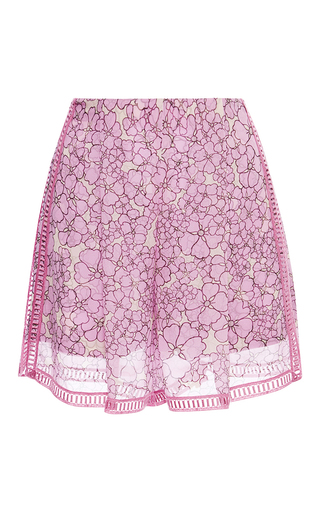 Medium giamba pink large flowers shorts