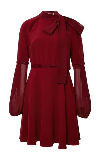 Medium giamba red stretch cady bow neck dress