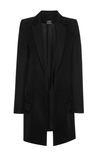 Medium anthony vaccarello black long open front classique coat
