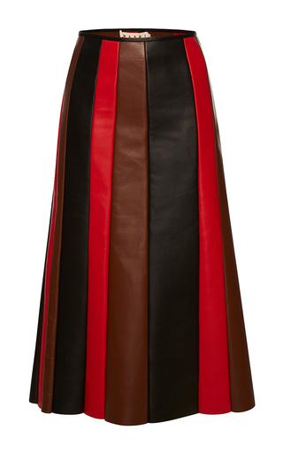 Medium marni multi nappa leather skirt