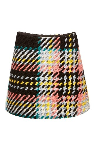 Medium marni print bonded macro tweed skirt