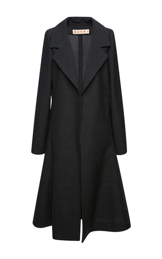 Medium marni dark grey bonded washed coat