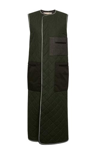 Quilted Waxed Poplin Waistcoat by MARNI Now Available on Moda Operandi