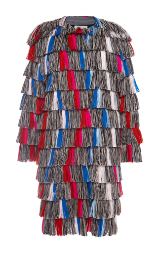 Medium marco de vincenzo multi fringed coat