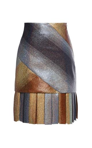Medium marco de vincenzo metallic metallic pleated pencil skirt