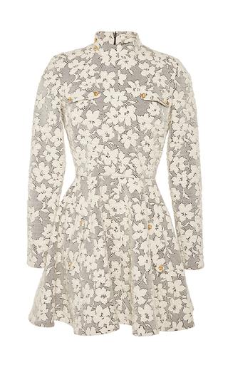 Medium j w anderson white floral jersey cloque skater dress