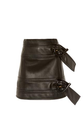 Medium j w anderson black leather mini skirt with double belt