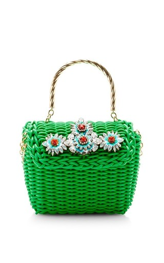 Medium shourouk green brigitte bag