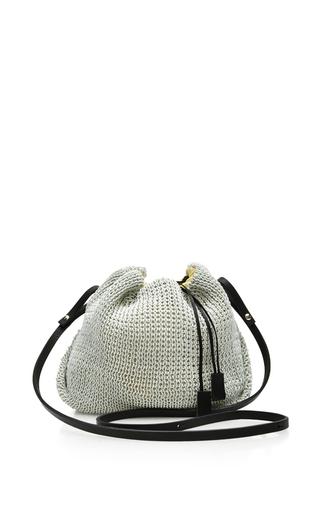 Medium muun white figii cross body knit bag
