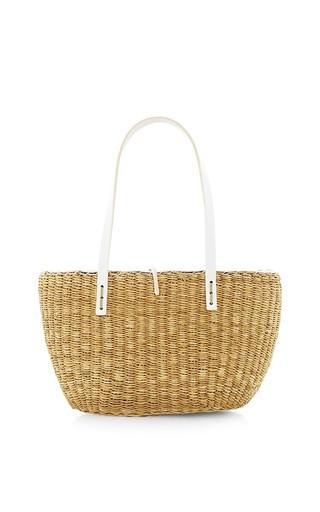 Medium muun tan riga p small straw tote bag