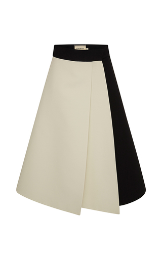 Medium fausto puglisi white a line skirt