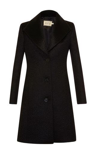Medium fausto puglisi black mohair wool coat