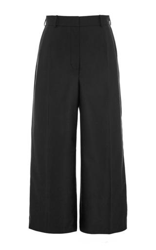 Medium vilshenko black alexa wool tailoring cropped wide leg pant