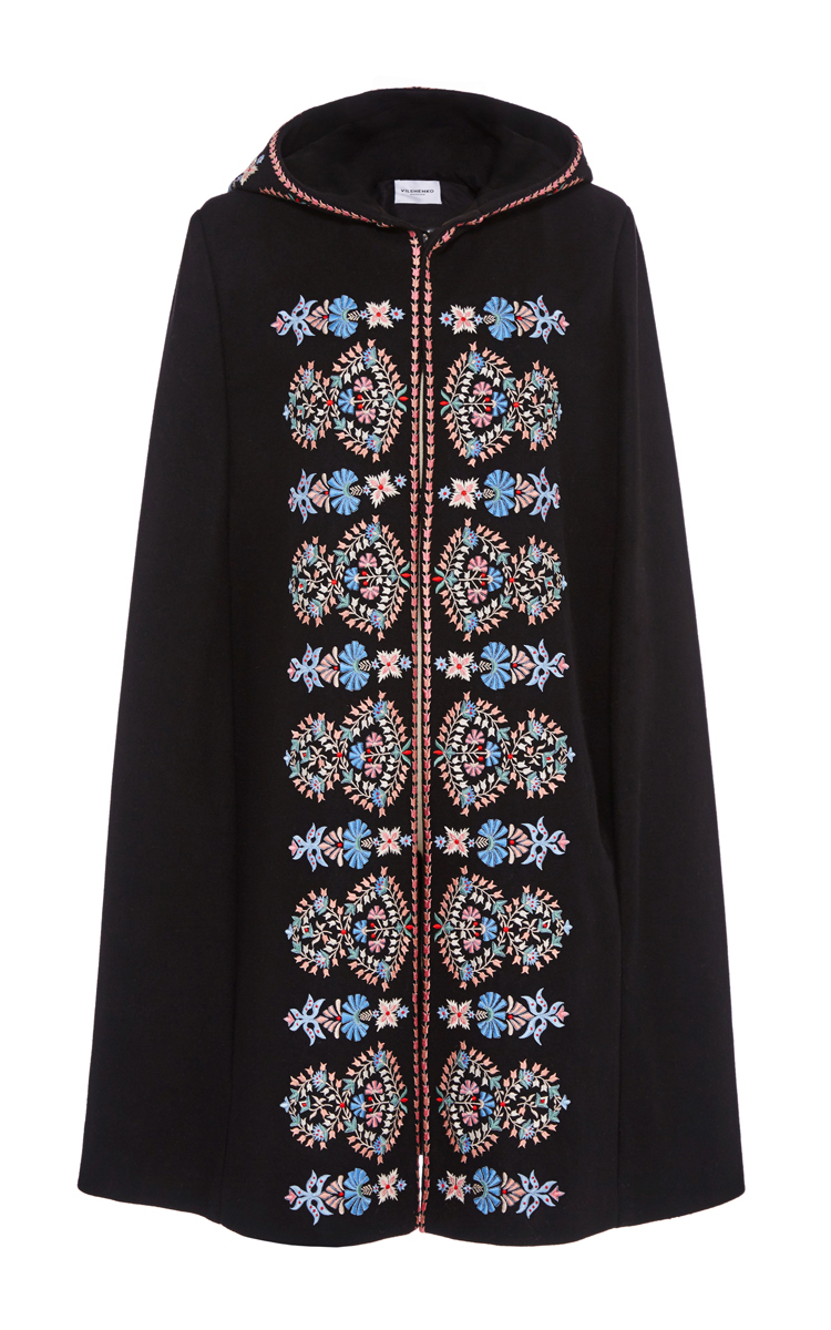 Embroidered Wool Cape By Vilshenko  Moda Operandi