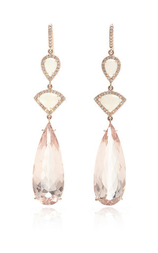 Medium nina runsdorf multi 18k pink gold opal and morganite drop earrings