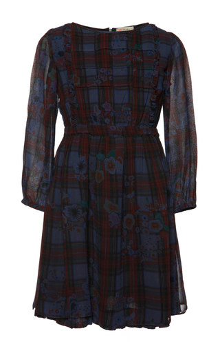 Medium preen blue tartan isla dress 2y 4y 6y
