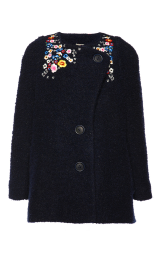 Medium preen blue embroidered beatrice coat 8y 10y 12y