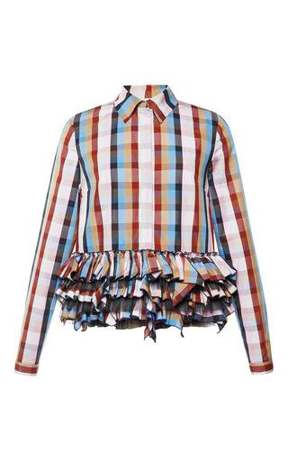 Medium natasha zinko multi ruffled checked shirt