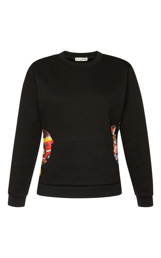 Medium natasha zinko black toy print sweatshirt