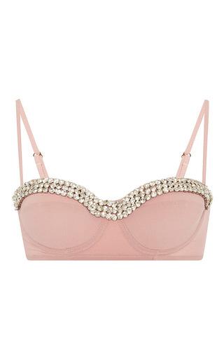 Medium rosamosario pink swarovski crystal embellished high waisted bikini