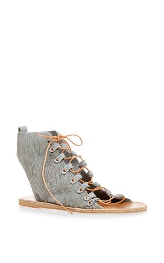 Medium ancient greek sandals dark grey mache