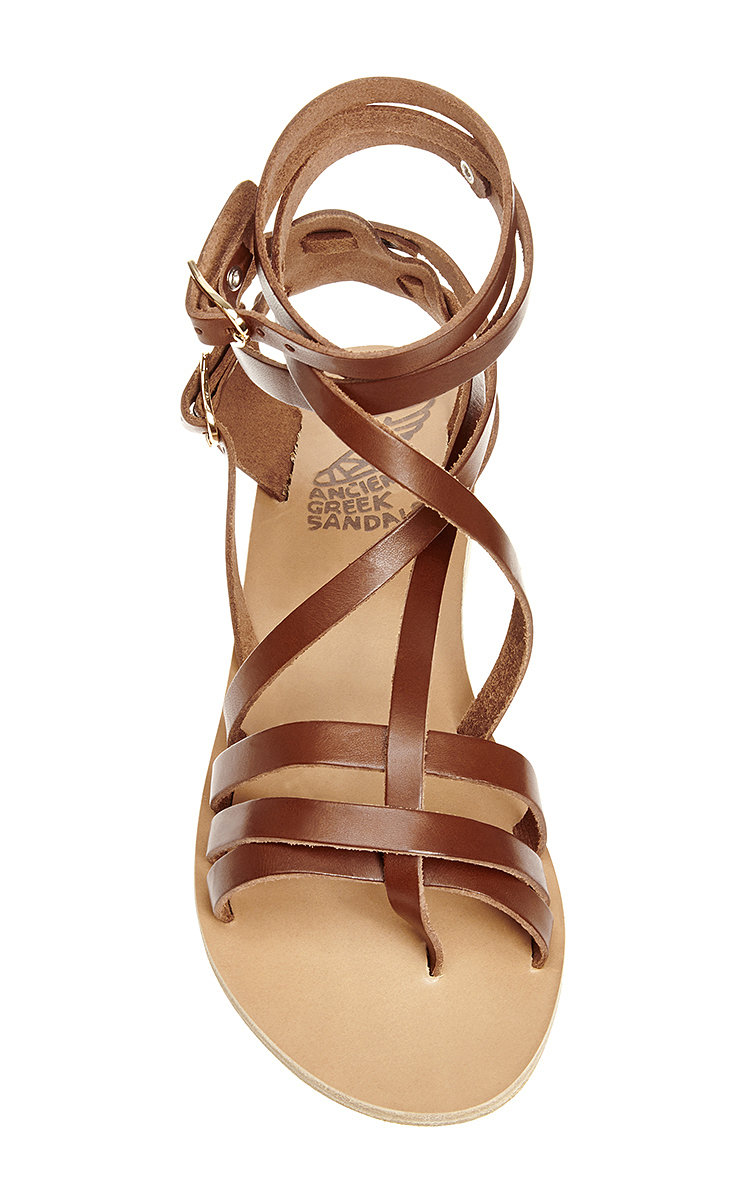 Satira Leather Wrap Sandals By Ancient Greek Sandals