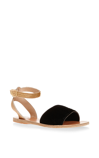 Thalpori Leather Ankle Strap Sandals by ANCIENT GREEK SANDALS Now Available on Moda Operandi