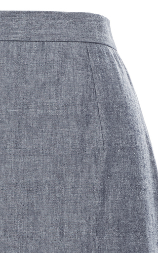 Chambray Vittoria Midi Skirt by APIECE APART Now Available on Moda Operandi